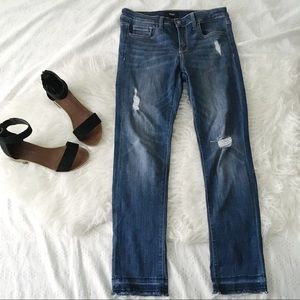 DistressedStraight Leg Super Stretch Jeans